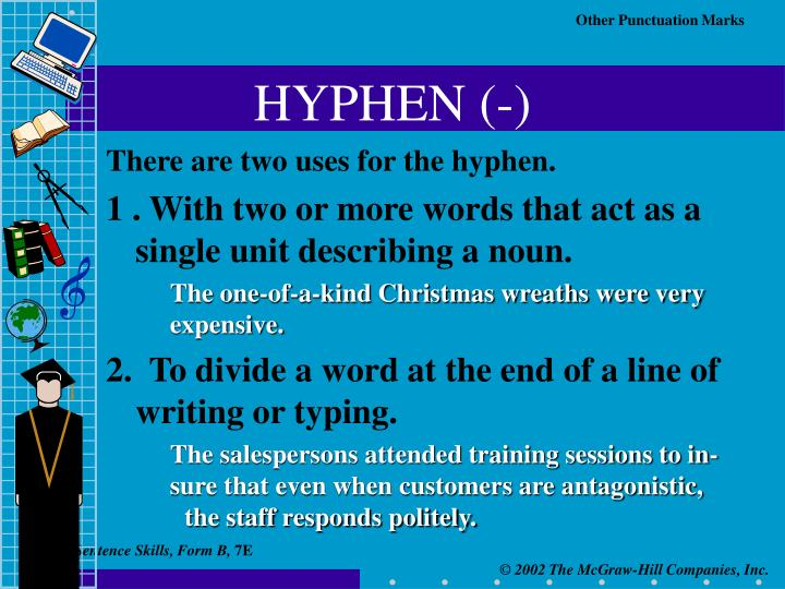 HYPHEN (-)