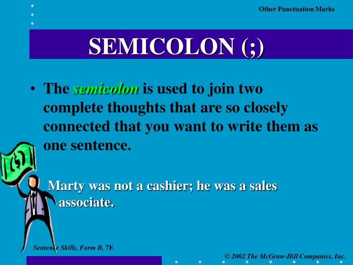 SEMICOLON (;)