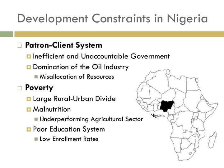 Development Constraints in Nigeria