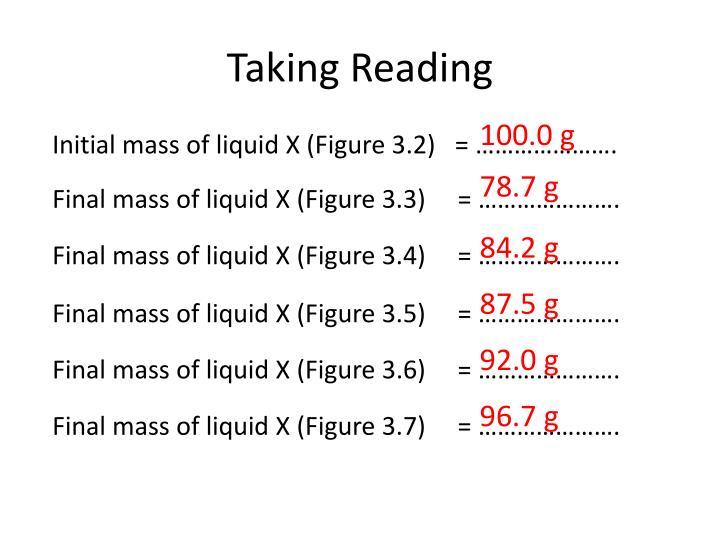 Taking Reading
