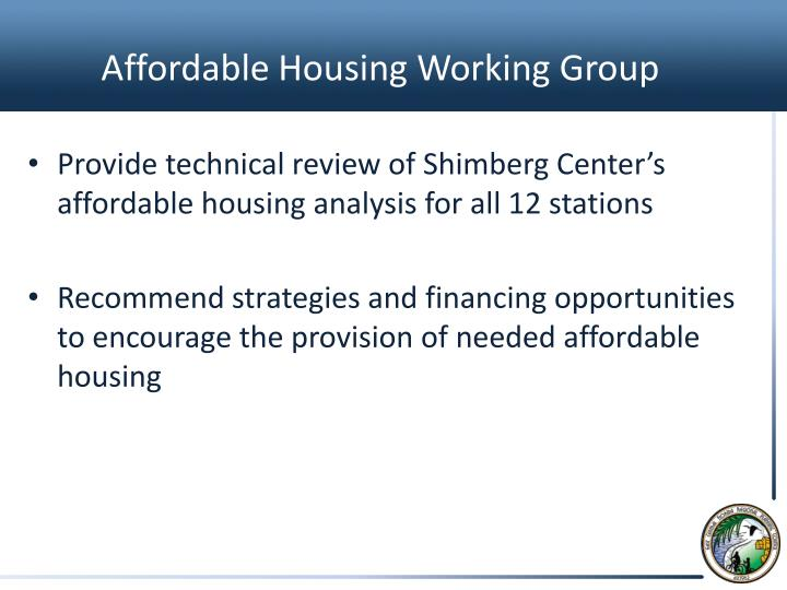 Affordable Housing Working