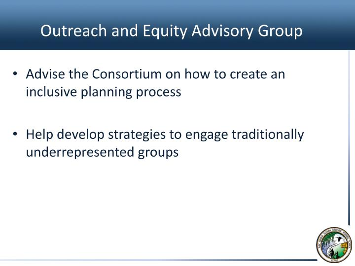 Outreach and Equity Advisory
