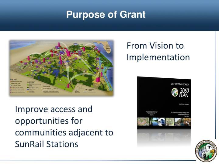 Purpose of Grant