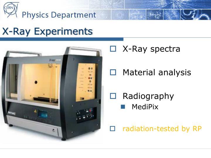 X-Ray Experiments