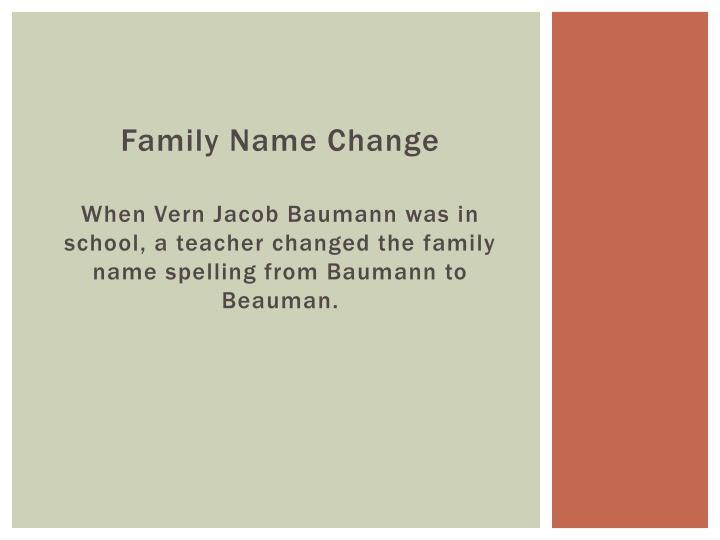 Family Name Change