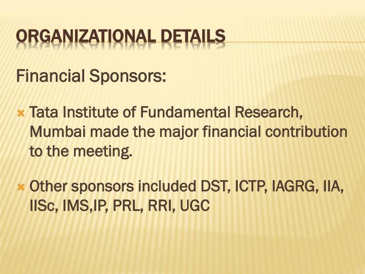 Financial Sponsors: