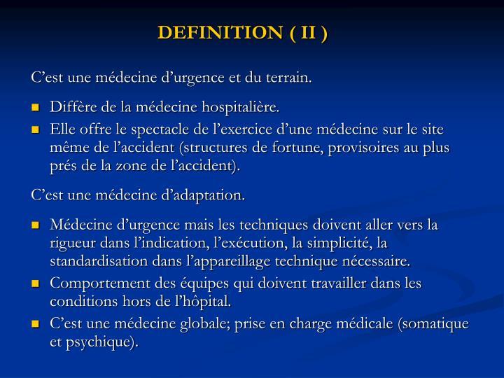 DEFINITION ( II )