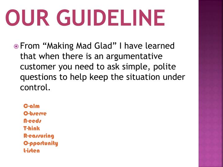 Our Guideline