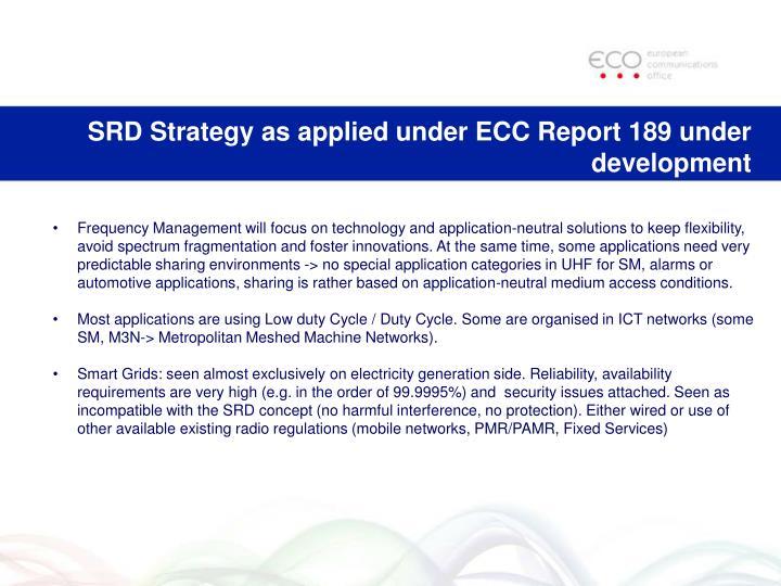 SRD Strategy