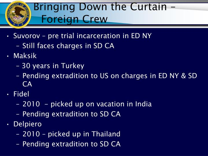 Bringing Down the Curtain – Foreign Crew