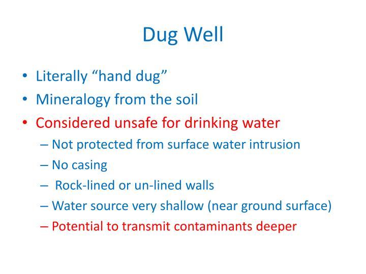 Dug Well