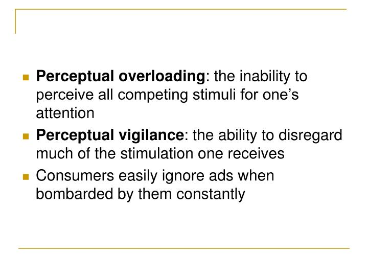 Perceptual overloading