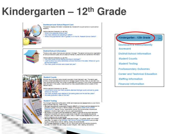 Kindergarten – 12