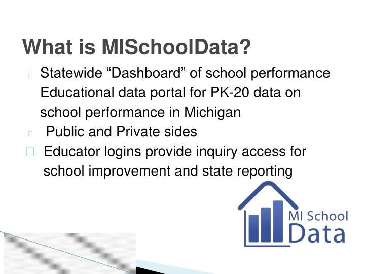 What is MISchoolData?