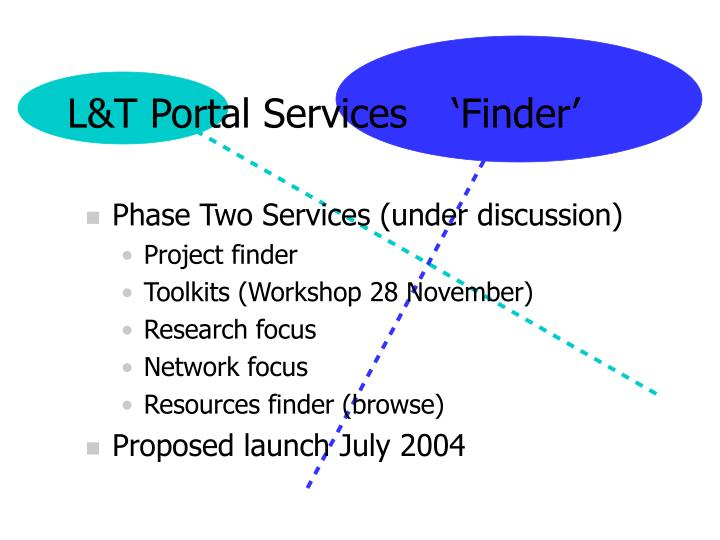 L&T Portal Services	  'Finder'