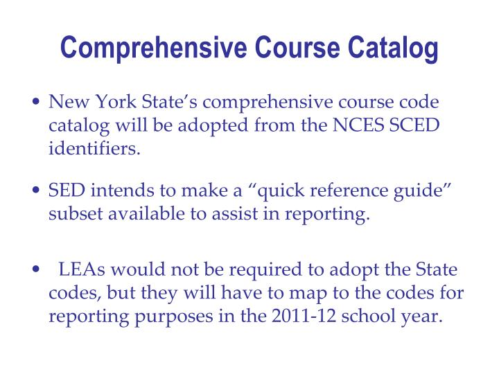Comprehensive Course Catalog