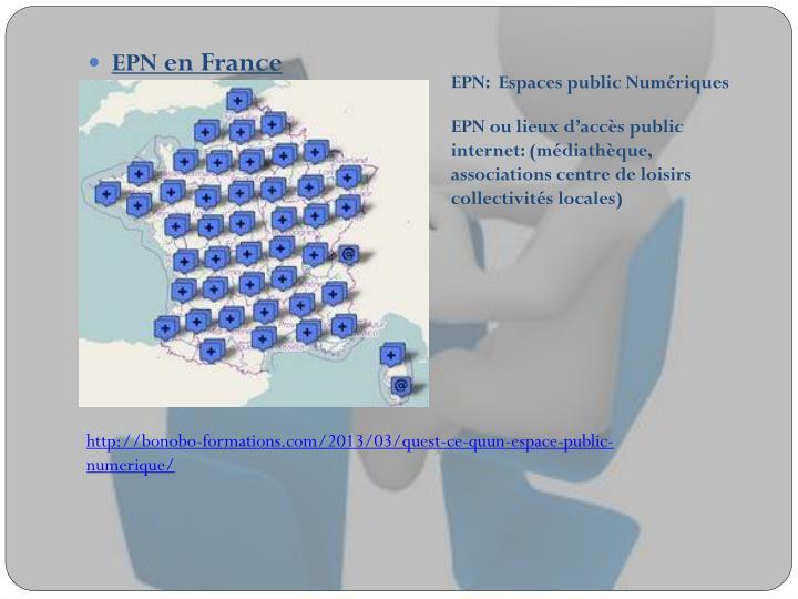 EPN:  Espaces public Numériques