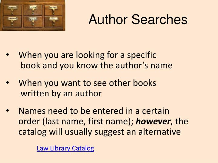 Author Searches