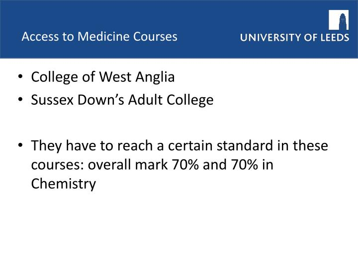 Access to Medicine Courses