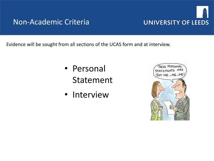 Non-Academic Criteria
