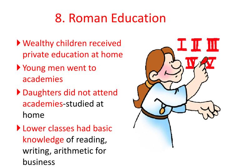 8. Roman Education