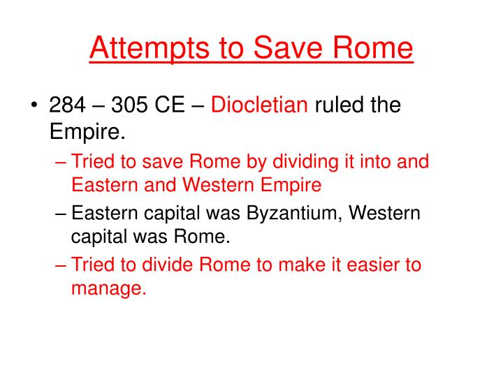 Attempts to Save Rome
