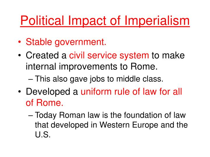Political Impact of Imperialism