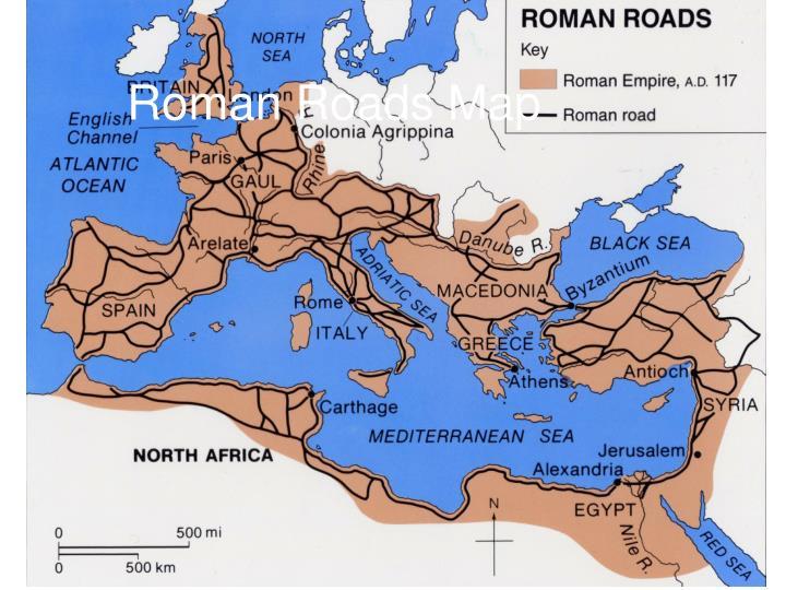 Roman Roads Map