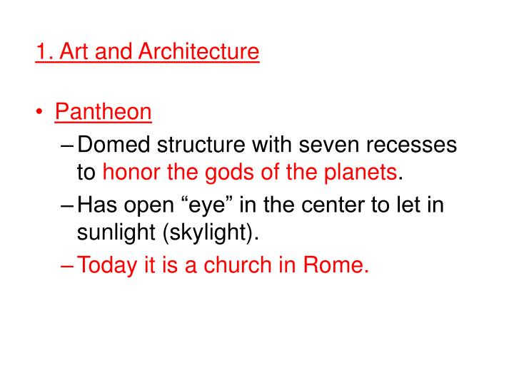 1. Art and Architecture