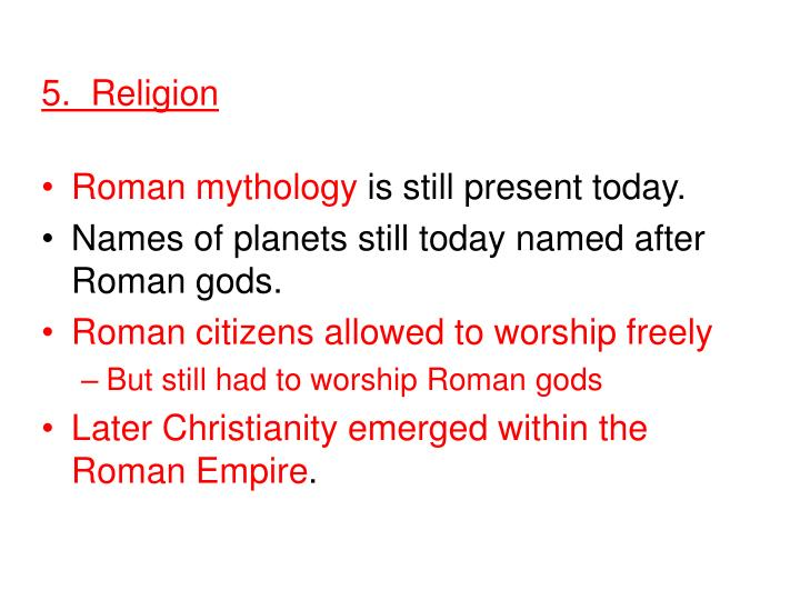 5.  Religion