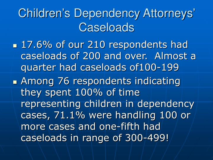 Children's Dependency Attorneys' Caseloads