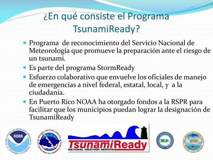 Programa  de reconocimiento del Servicio Nacional de Meteorología que promueve la preparación ante el riesgo de un tsunami