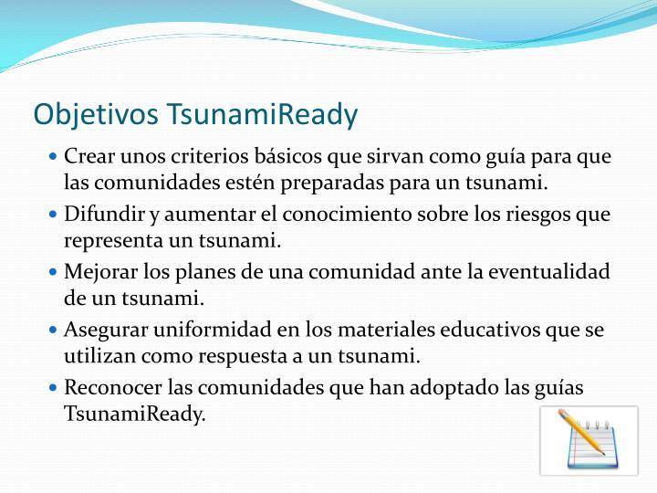 Objetivos TsunamiReady