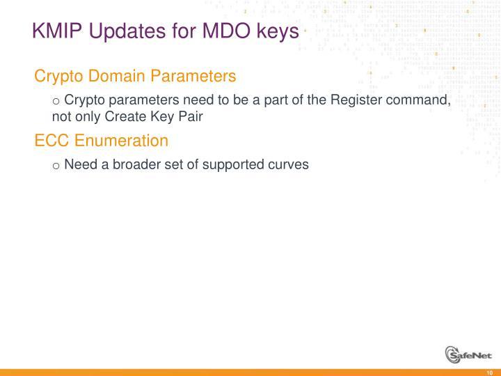 KMIP Updates for MDO keys