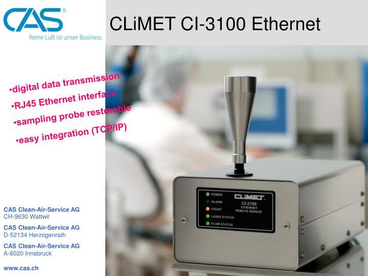 CLiMET CI-3100 Ethernet