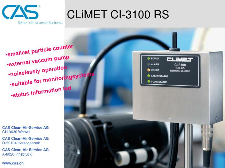 CLiMET CI-3100 RS