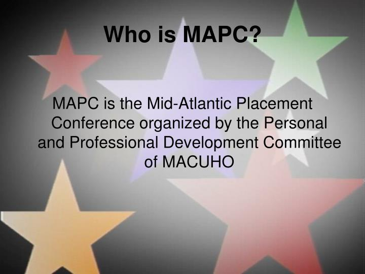 Who is MAPC?
