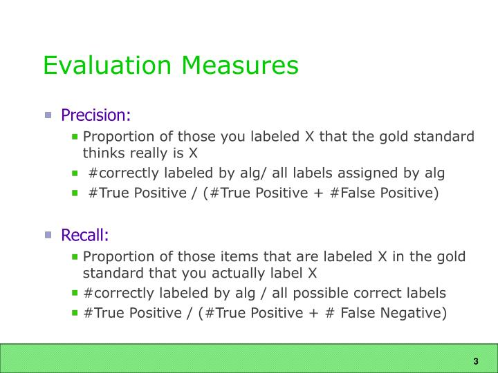 Evaluation measures1