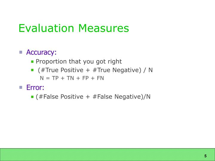 Evaluation Measures