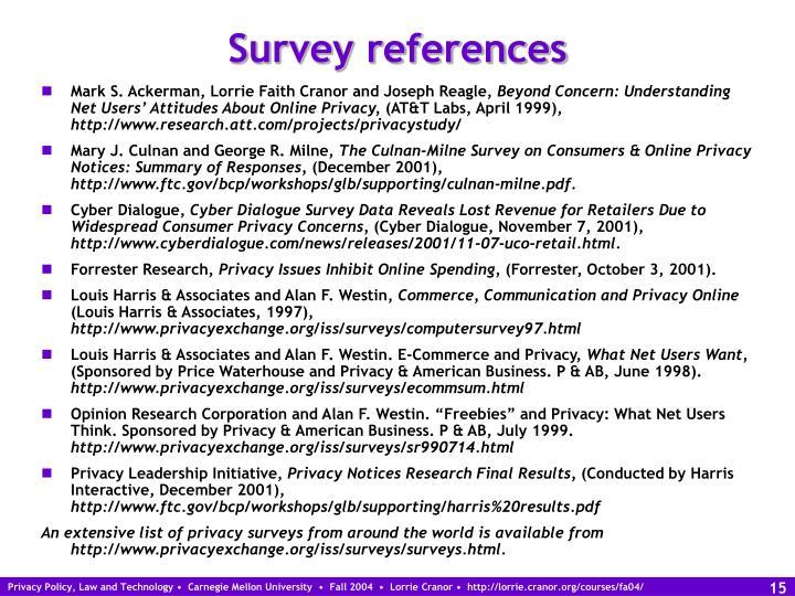 Survey references