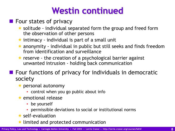 Westin continued