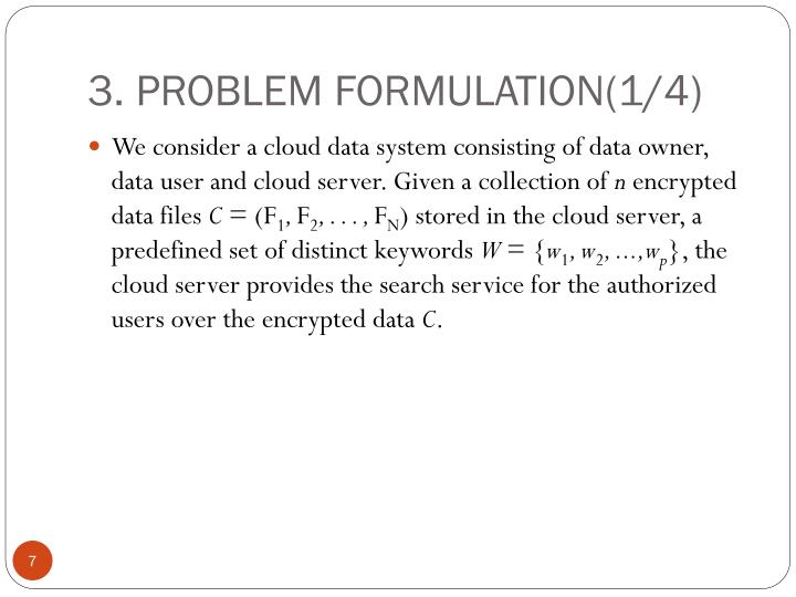 3. PROBLEM FORMULATION(1/4)