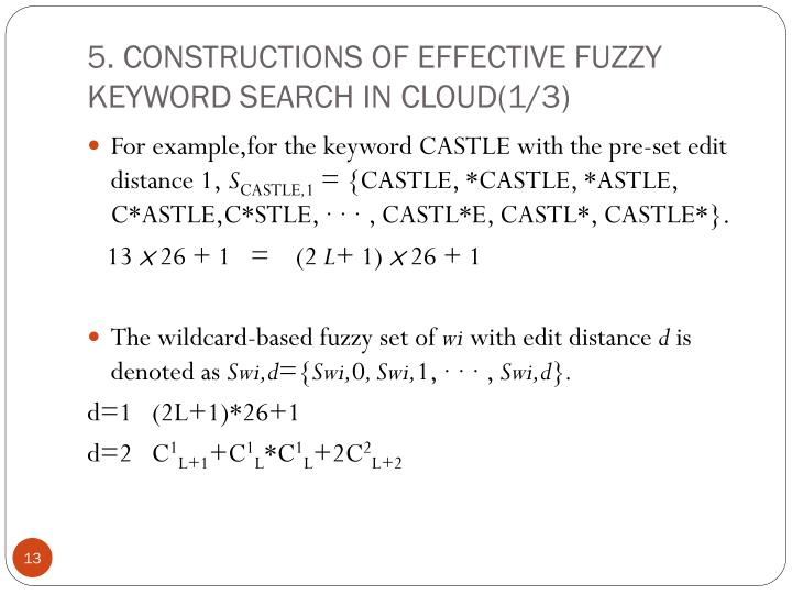 5. CONSTRUCTIONS OF EFFECTIVE FUZZY KEYWORD SEARCH IN CLOUD(1/3)