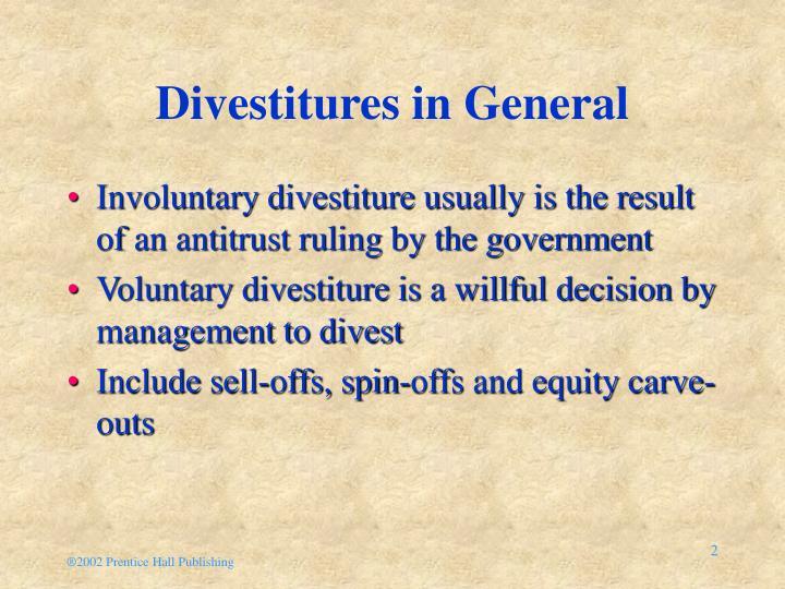 Divestitures in General