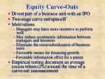 equity carve outs