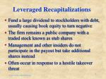 leveraged recapitalizations