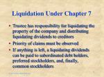 liquidation under chapter 7