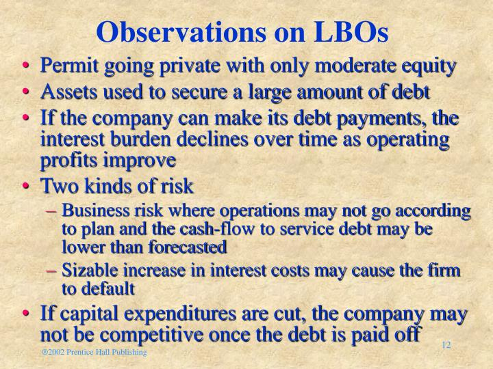 Observations on LBOs