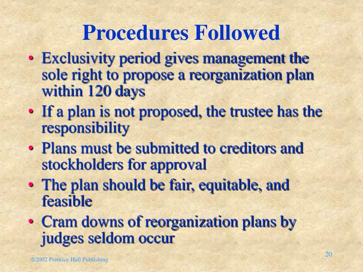 Procedures Followed
