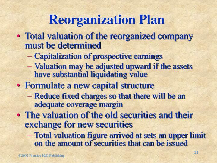 Reorganization Plan
